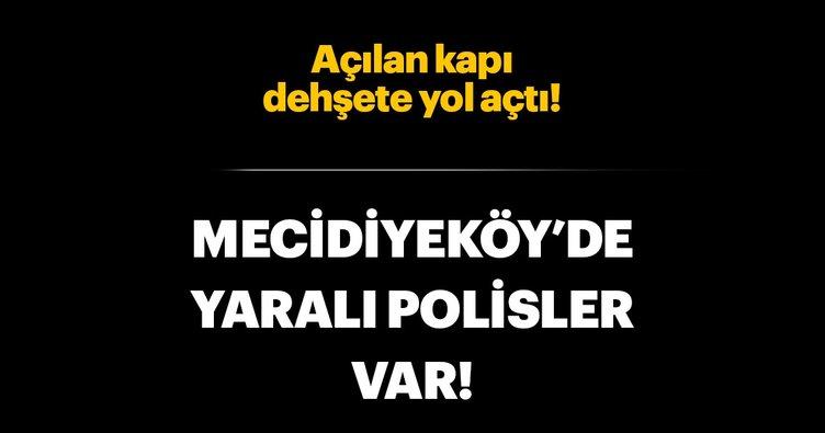 Son dakika: Mecidiyeköy'de kaza! 2 polis yaralı...