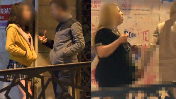 İstanbul'da sokak ortasındaki şoke eden fuhuş rezaleti kamerada! Çirkin görüntüleri... | Video