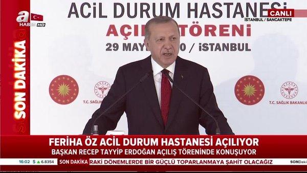 Cumhurbaşkanı Erdoğan'dan Sancaktepe Prof. Dr. Feriha ÖzAcil DurumHastanesi açılışında önemli açıklamalar | Video