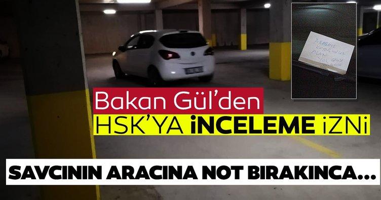 Adalet Bakanı Gül'den Ordu'nun Ünye ilçesinde bir savcının müşteki olarak yer aldığı soruşturmayla ilgili açıklama