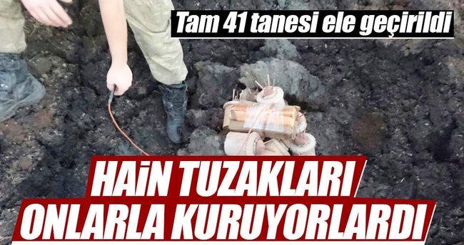 Şemdinli'de 41 antipersonel mayını ele geçirildi