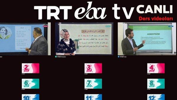 TRT EBA TV izle! (10 Nisan 2020 Cuma ) 'Uzaktan Eğitim' Ortaokul, İlkokul, Lise dersleri  canlı yayın | Video