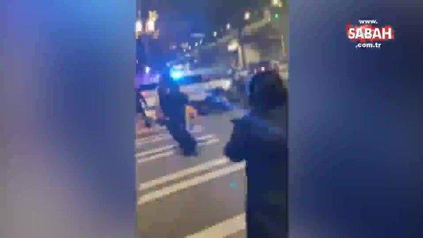ABD'de polis aracı, kalabalığın arasına daldı, 1 kişi ezildi   Video