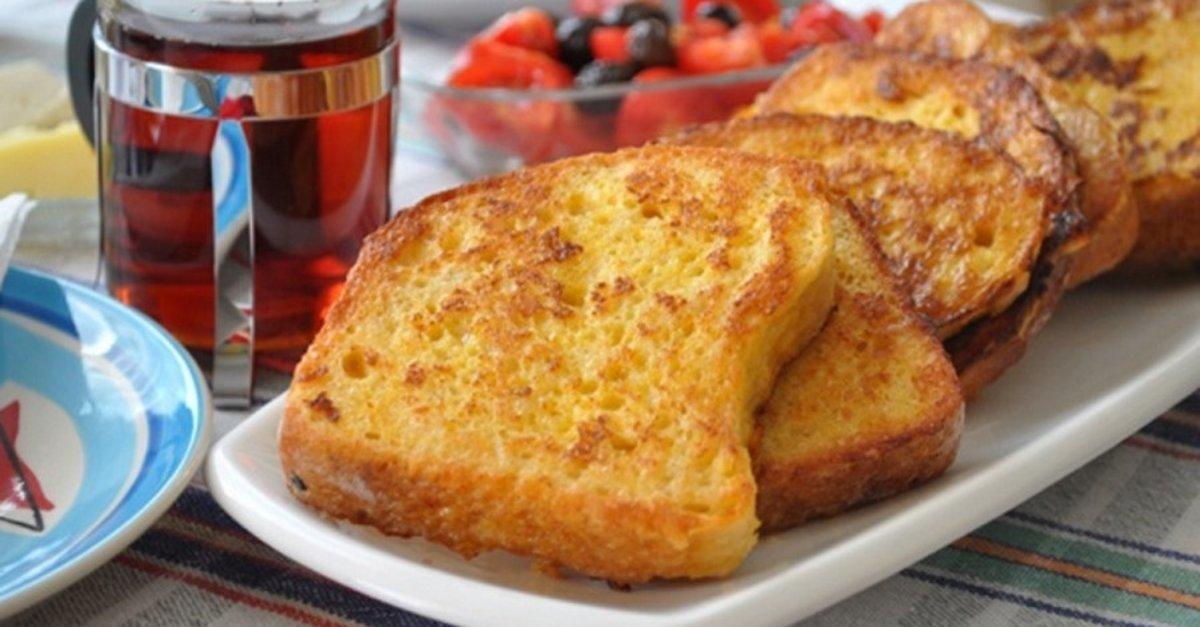 Yumurtalı ekmek nasıl yapılır? Evde yumurtalı ekmek tarifi.. - Kahvaltılık  Tarifler Haberleri