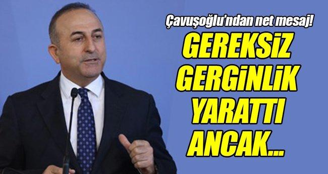 Çavuşoğlu'ndan 'Başika Kampı' açıklaması!