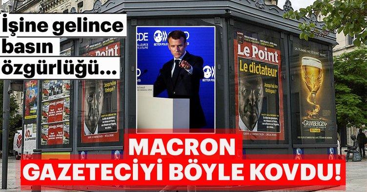 """""""Basın özgürlüğünü"""" savunan Macron'dan Rus medyasına yasak!"""
