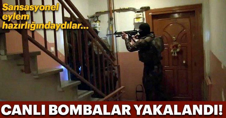 İstanbul'da DEAŞ'ın canlı bombaları yakalandı