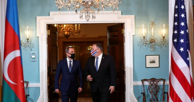 Azerbaycan Dışişleri Bakanı Bayramov, ABD Dışişleri Bakanı Pompeo ile bir araya geldi