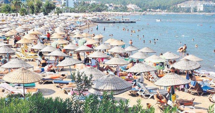 Antalya'da turist sayısı 200 bine dayandı