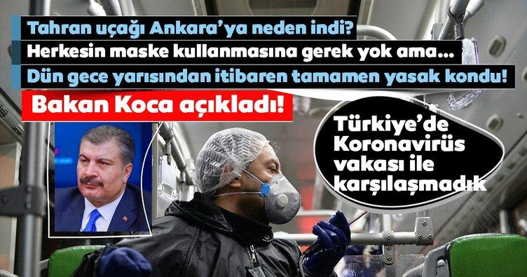 Son Dakika Haberi: Sağlık Bakanı Koca'dan Koronavirüs hakkında önemli açıklamalar