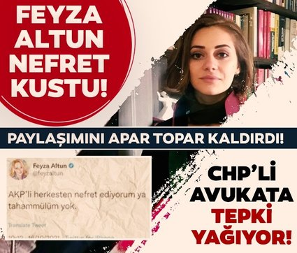 CHP'li Feyza Altun'un AK Partililere yönelik nefret dolu paylaşımına tepki yağdı
