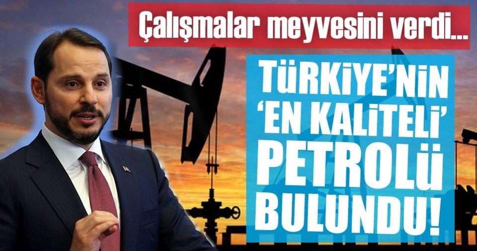 Türkiye'nin en kaliteli petrolü bulundu! - Ekonomi Haberleri