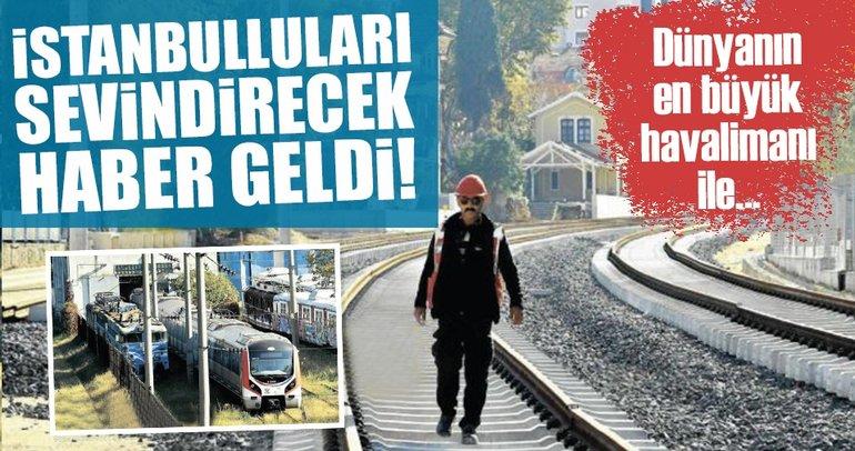 Gebze-Halkalı tren hattında raylar döşendi, istasyonlar kuruldu!