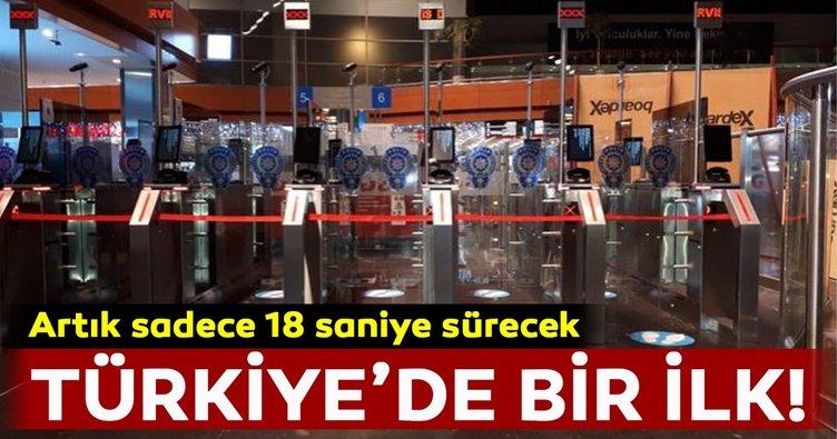 Türkiye'de bir ilk! Pasaporttanyüz tanıma sistemiile geçişSabiha Gökçen'de başladı