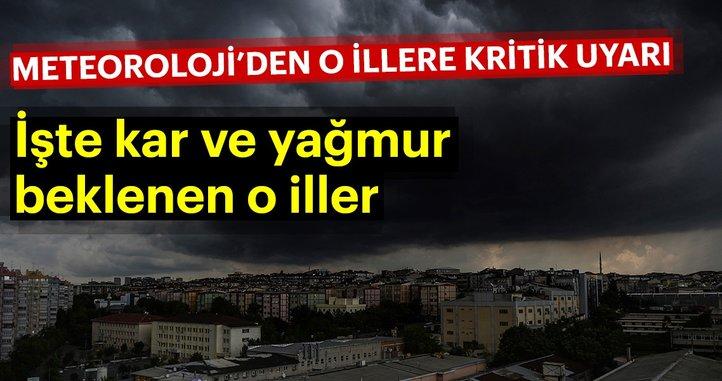 Meteoroloji'den kritik hava durumu uyarısı! Bugün hava nasıl olacak? İstanbul'da hava durumu