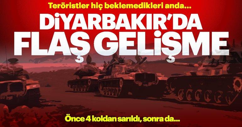 Diyarbakır'da teröristlerin sığınak ve mevzileri imha edildi