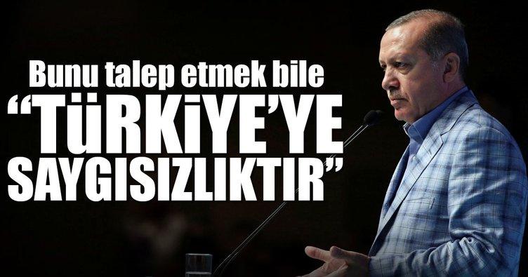 Türkiye'ye saygısızlık