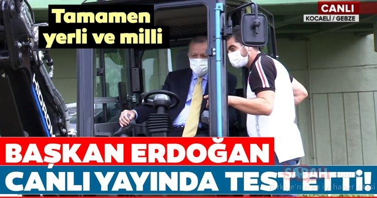 Tamamen yerli ve milli! Başkan Erdoğan canlı yayında test etti