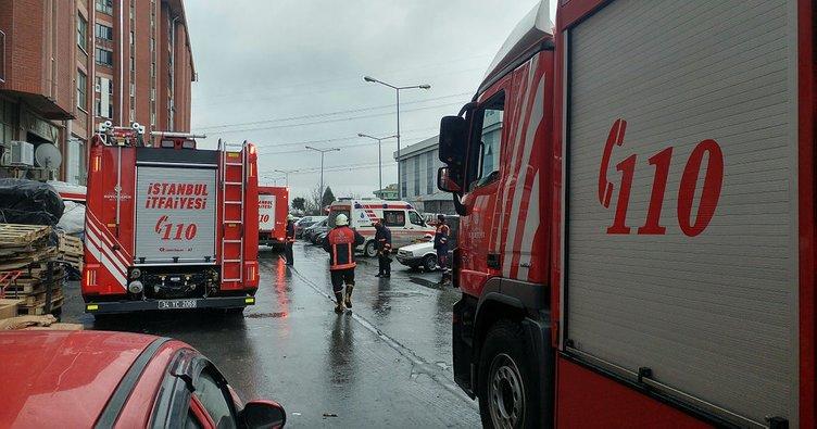 Başakşehir'de Sanayi Sitesi'nde yangın