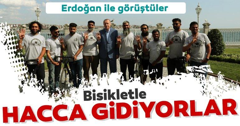 Erdoğan, Medine'ye doğru pedal çeviren grubu kabul etti