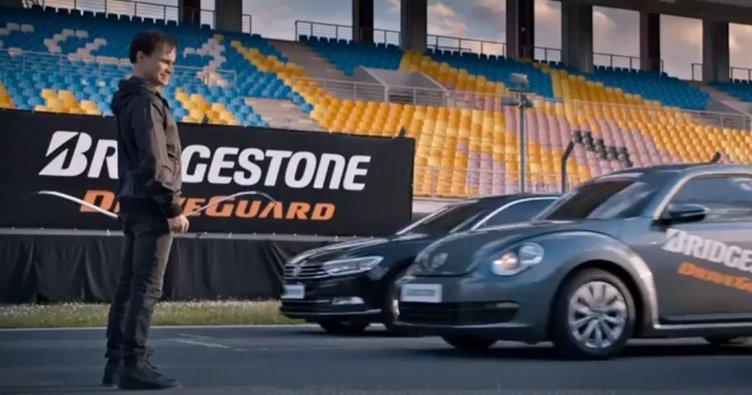 Bridgestone'un yeni nesil DriveGuard lastikleri, dünyanın en hızlı okçusuna karşı başarısını kanıtladı