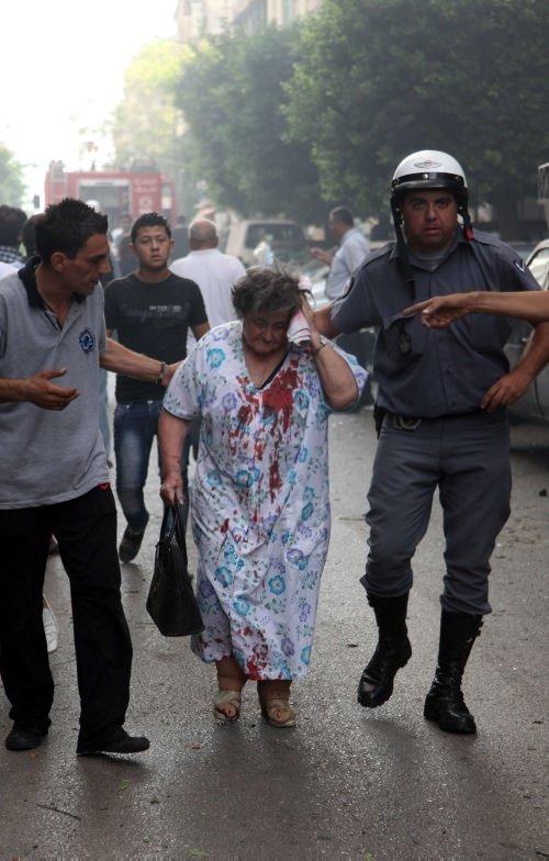 Beyrut'ta dehşet anları