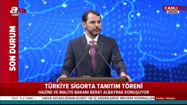 Son dakika: Bakan Albayrak'tan Türkiye Sigorta Tanıtım Töreni'nde flaş açıklamalar | Video