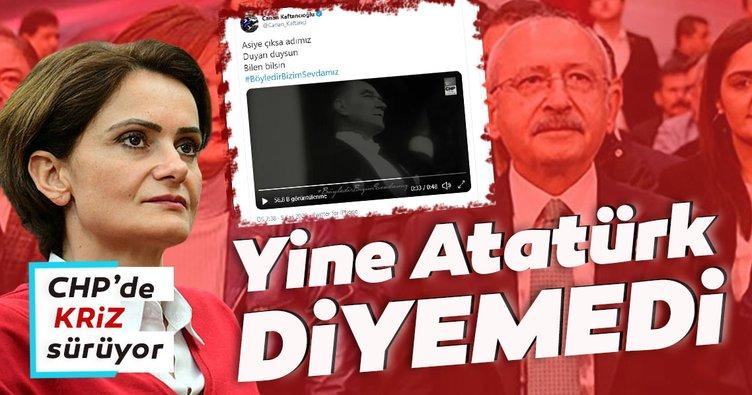 Canan yine Atatürk diyemedi