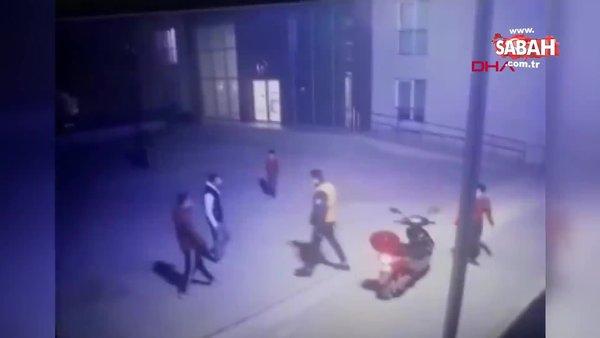 SON DAKİKA: İstanbul Esenyurt'ta sitede tekvandocu güvenlik görevlisinden iki gence feci dayak kamerada