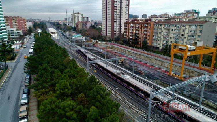 Marmaray ilk kez banliyö hattına çıktı