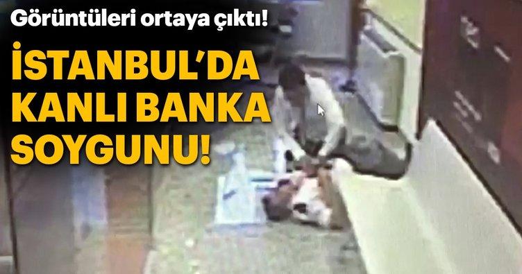 İstanbul'daki kanlı banka soygunu kamerada