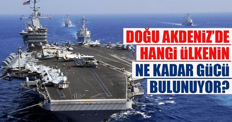Doğu Akdeniz'de hangi ülkenin ne kadar gücü bulunuyor