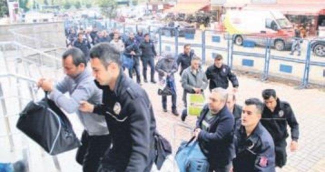 8 ilde 90 gözaltı 16 tutuklama