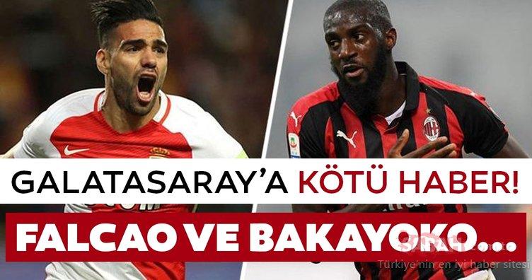 Son dakika Galatasaray transfer haberleri! Galatasay'a Falcao ve Bakayoko'dan kötü haber geldi! İşte detaylar