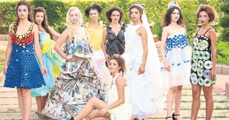 Çöpten yapılan elbiseler İzmir'de görücüye çıkacak