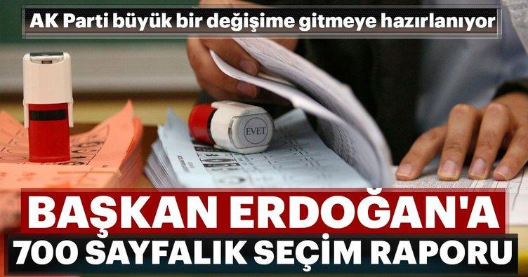 Erdoğan'a 700 sayfalık seçim raporu