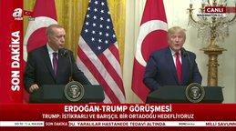 """Trump: """"Başkan Erdoğan'a hayranlık duyuyorum"""""""