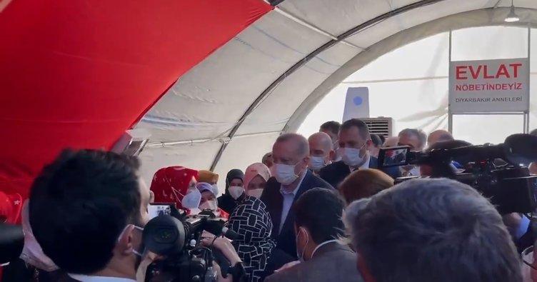 Son dakika: Başkan Erdoğan'dan 'Diyarbakır Anneleri'ne destek ziyareti