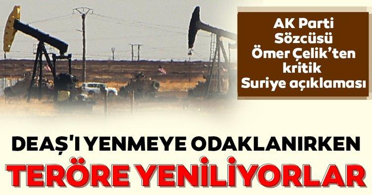 AK Parti Sözcüsü Çelik'ten Suriye açıklaması!