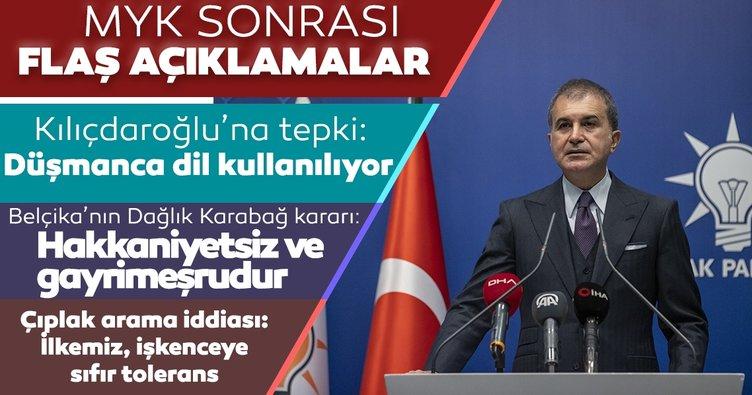 Son dakika: AK Parti MYK sona erdi! AK Parti sözcüsü Ömer Çelik'ten önemli açıklamalar