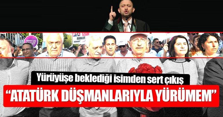 Kocasakal: Atatürk düşmanlarıyla yürümem