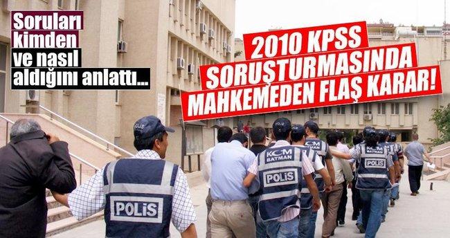 2010 KPSS soruşturmasında flaş karar!