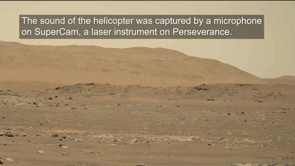 NASA'dan Mars'ta insanlık tarihine geçen video! NASA'nın Mars'taki helikopterin uçuşu sesli olarak böyle kaydedildi...
