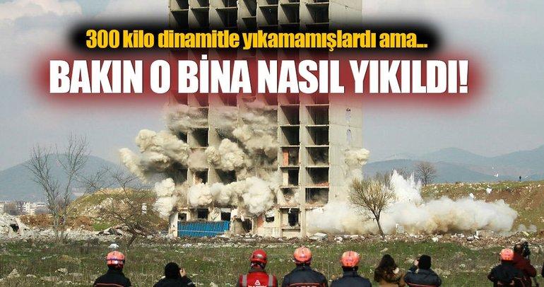 300 kilo dinamitle yıkılmayan bina, kendiliğinden yıkıldı