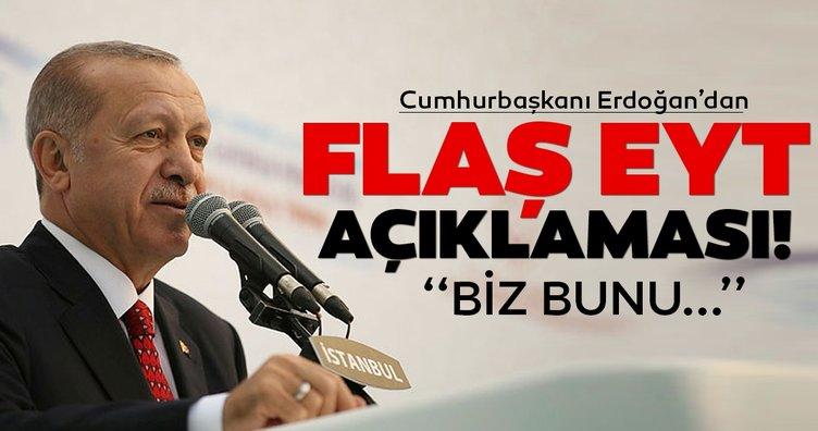 Son dakika haberi: Cumhurbaşkanı Erdoğan'dan flaş EYT açıklaması! Emeklilikte Yaşa Takılanlar EYT yasası çıkıyor mu?