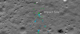 Ay yüzeyindeki kayıp modülün enkazı bulundu