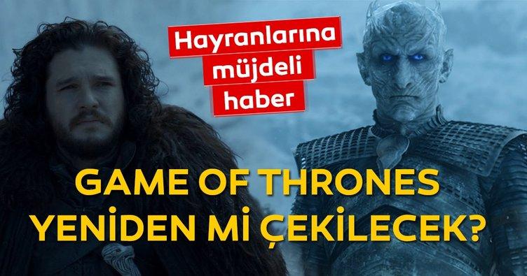 Game of Thrones final bölümünün ardından hayranlarını sevindiren haber! Game of Thrones yeniden çekilecek mi?