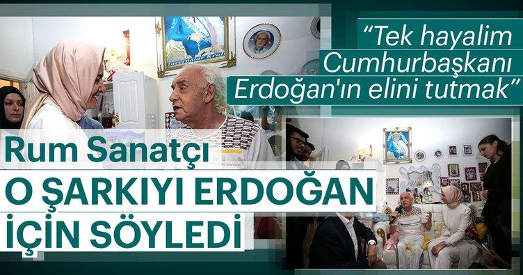 Rum sanatçı Yorgo Vaporidis'in tek hayali Cumhurbaşkanı Erdoğan'ın elini tutmak