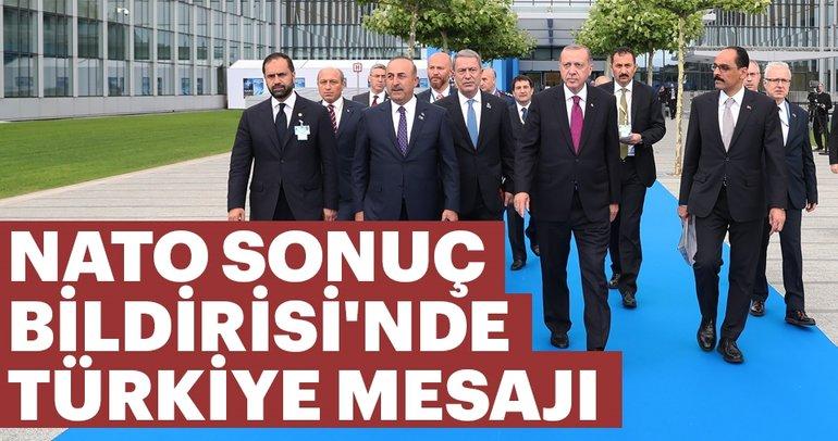 NATO Sonuç Bildirisinde Türkiye mesajı