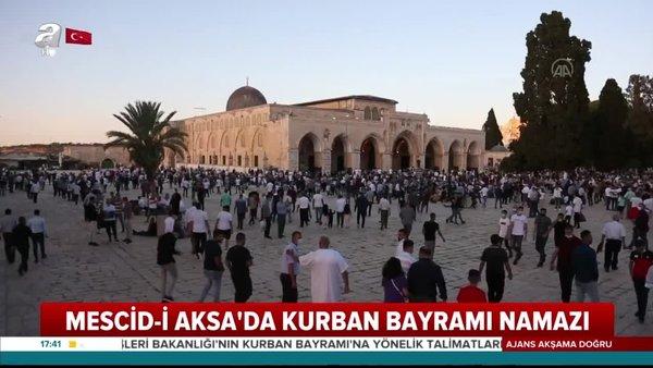 Mescid-i Aksa'da Kurban Bayramı namazı! Ayasofya ve Türkiye detayı dikkat çekti... | Video